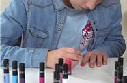 Детский лак для ногтей Creative Nails на водной основе (2 цвета Черный + Розовый) лак-карандаш, фото 3