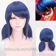 Парик аниме Леди Баг Lady Bag мультфильм божья коровка синие голубые волосы герой мультика
