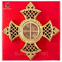 Георгиевский крест мощевик с ладаном