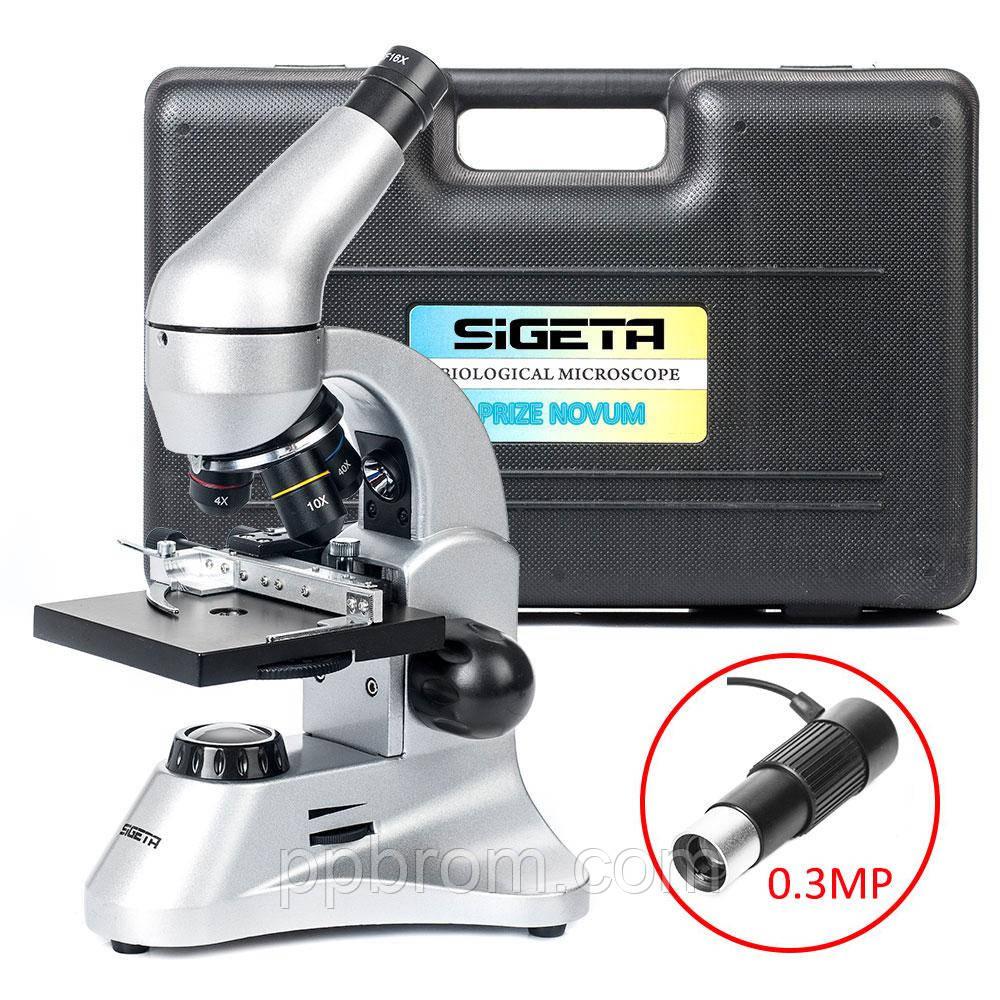 Микроскоп SIGETA PRIZE NOVUM 20x-1280x с камерой 0.3Mp (в кейсе)