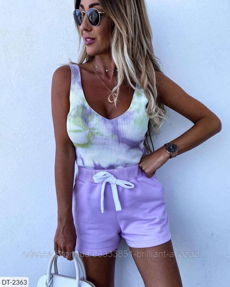 Фиолетовые шортики на резиночке