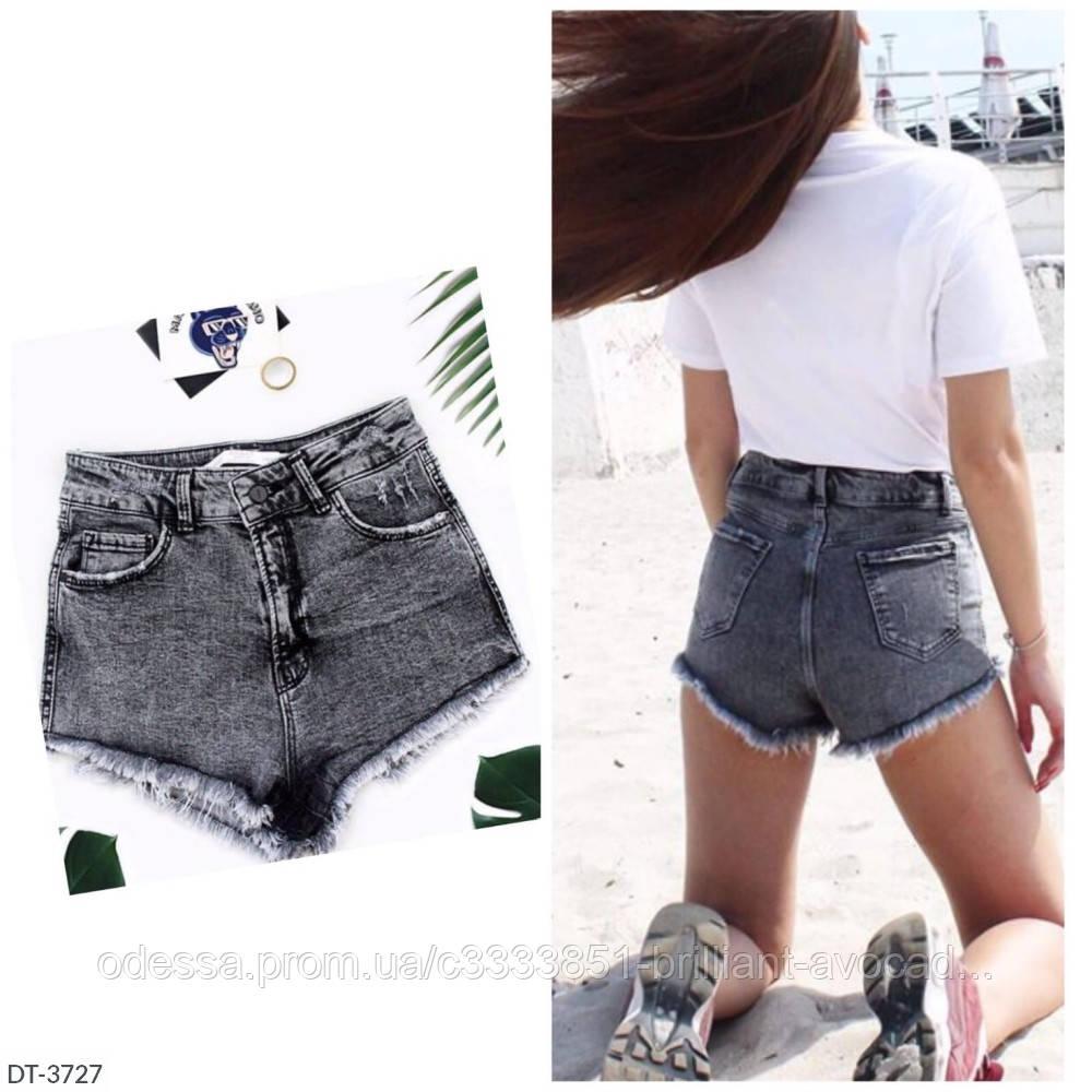 Женские джинсовые темные шорты