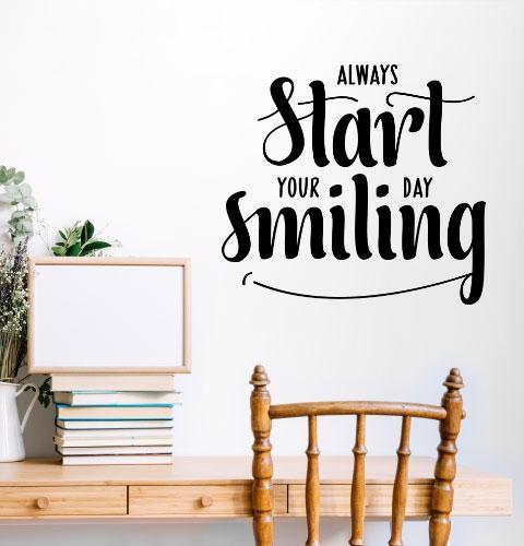 Наклейка на стену Улыбнись (smiling, позитив)