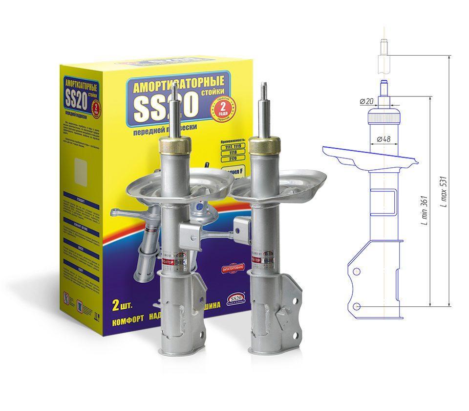 Стійки передні Лада Веста SS20 Стандарт (2 шт.) SS20325