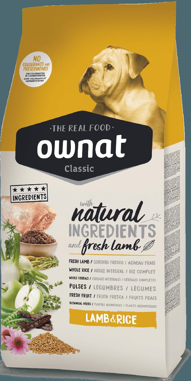 Корм Овнат Ownat Lamb&Rice для собак з Ягням та Рисом -  4 кг