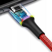 Кабель быстрой зарядки Baseus 2.4A for Iphone Red, длина - 120 см. (CALYW-09), фото 2