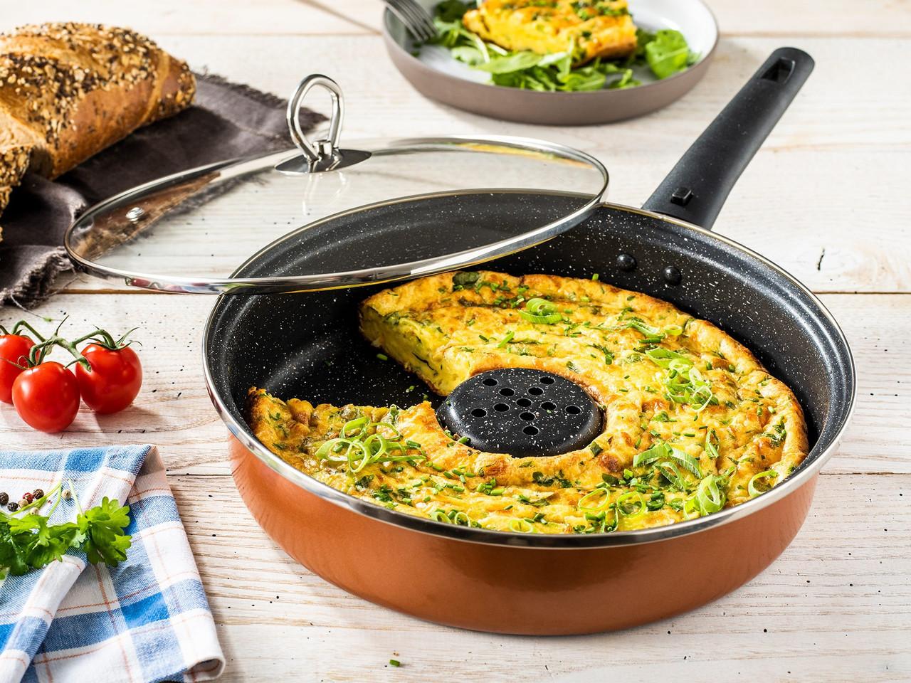 Универсальная сковорода Dry Cooker Kaitint Excellent, 26 см, черная