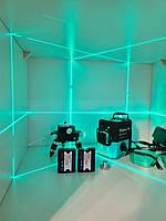 Бирюзовые SHARP диоды✷САМЫЕ ЯРКИЕ✷ 3D лазерный нивелир DEKO LL12-HVG《12 линий 》2 Li-ion 2000мАч