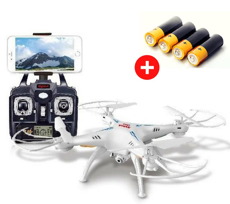 Квадрокоптер Tean Toys DRONE 1 Milliomn с Wifi камерой HD. радиус 120 метров, Белый