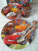 Дитячий посуд для годування 5 предметів Тачки блискавка