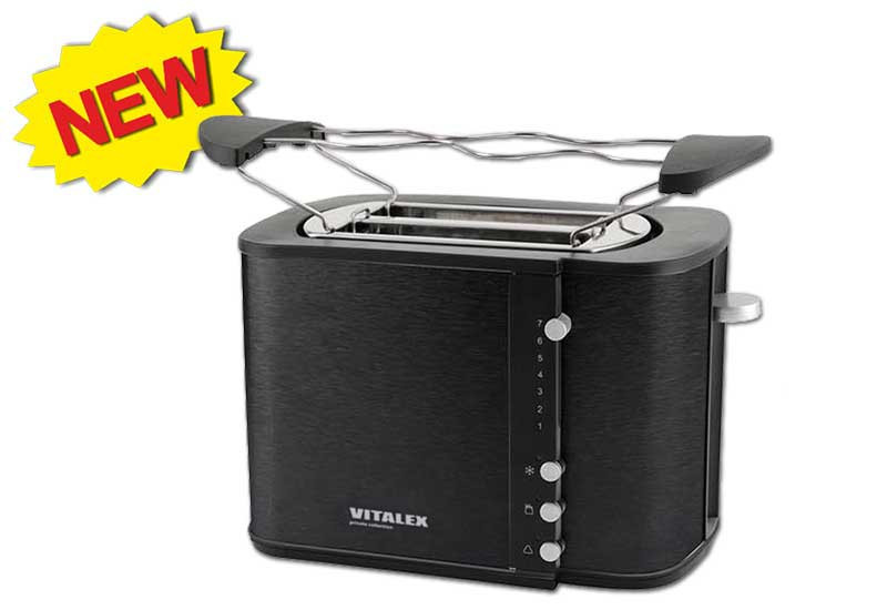 Тостер Vitalex VL-5018, тостер на 2 отделения, компактный тостер, тостер для дома, тостер на 2 тоста