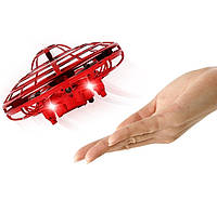 Детский дрон мини квадрокоптер UFO Hand pro LED Y1102, нтерактивный индукционный