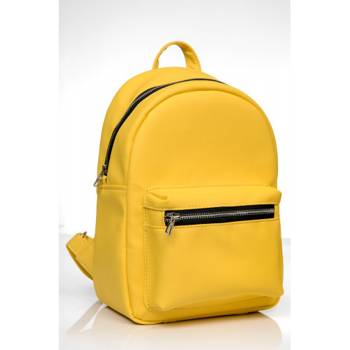 Женский рюкзак из экокожи Cambag Talari SD желтый