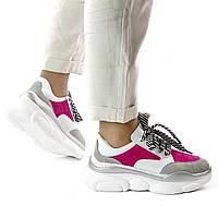 Женские  розовые кроссовки MORENTO - белые-розовые, натуральная замша, натуральная кожа, весна/лето/осень