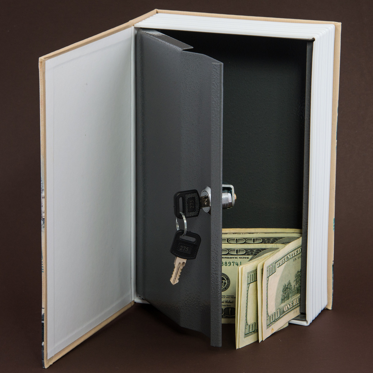 Книга сейф LONDON Book safe, с ключом, большая 24 см