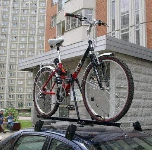 Багажник велосипедный на крышу авто Amos 2 ST Польша