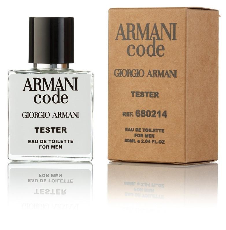 Туалетная вода мужская Giorgio Armani Armani Code 50 ml, Orign Tester, эко упаковка