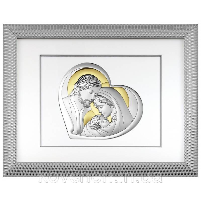 """Икона серебряная """"Святое Семейство"""", 51,5x65,5"""