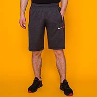 Темно серые длинные трикотажные мужские шорты в стиле Nike Air (Найк). Лето 2020. Код LS015