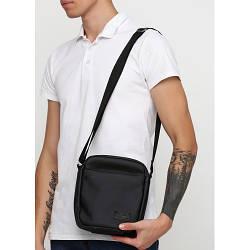 Черная сумка  мессенджер из экокожи  унисекс мужская