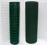 Сетка сварная в рулоне 50х100,цинк +ПВХ зелёная, D 2.2мм, H 1.5м, L 10 м.пог, фото 2