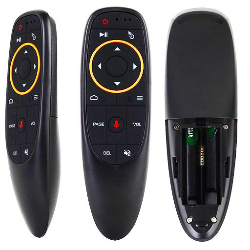 Пульт аэромышь AIR MOUSE G20, 2,4G, функция управления голосом, черный