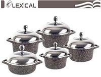 Набор посуды с крышками Lexical LG-141001-2