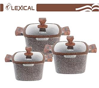 Набор посуды Lexical LG-440601-2 (20/24/28см.)