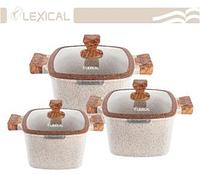 Набор посуды Lexical LG-440601-3 (20/24/28см.)