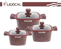 Набор посуды Lexical LG-440601-4 (20/24/28см.)