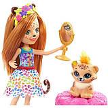 Enchantimals Модный наряд кукла Чериш Гепарди и Квик Fashion Fun Cherish Cheetah Doll Quick-quick Figure, фото 2