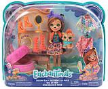 Enchantimals Модный наряд кукла Чериш Гепарди и Квик Fashion Fun Cherish Cheetah Doll Quick-quick Figure, фото 4