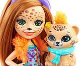 Enchantimals Модный наряд кукла Чериш Гепарди и Квик Fashion Fun Cherish Cheetah Doll Quick-quick Figure, фото 5