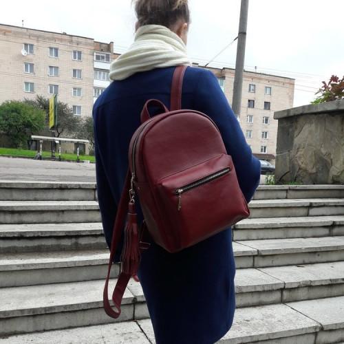 Женский рюкзак из экокожи Cambag Brix LF бордо