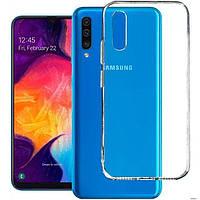 Чехол для Samsung Galaxy A50 2019 силиконовый прозрачный ультратонкий (самсунг а50)