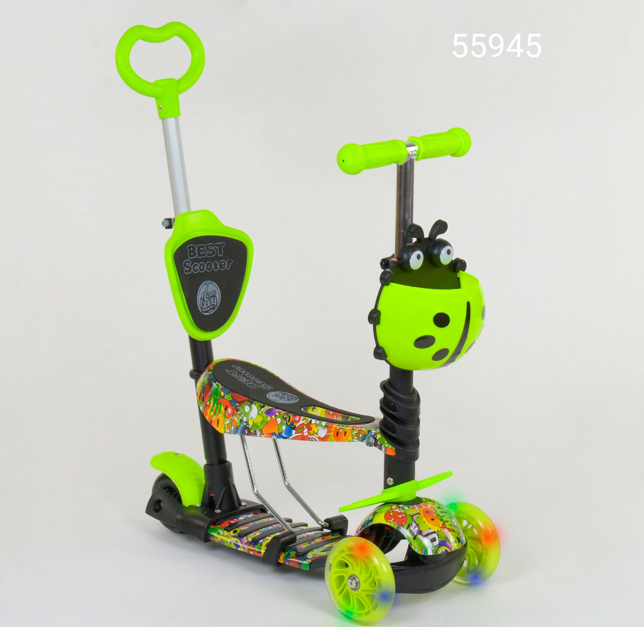 Самокат Best Scooter K 5 в 1 з ручкою 55945