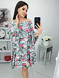 Платье с открытыми плечами из штапеля 35-321, фото 5
