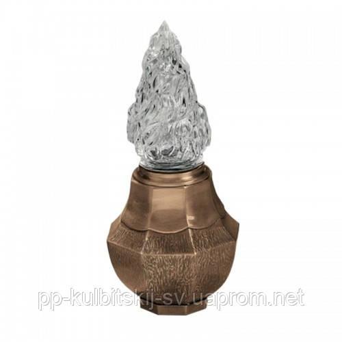 Лампадка бронзова на надгробний памятник L754/26