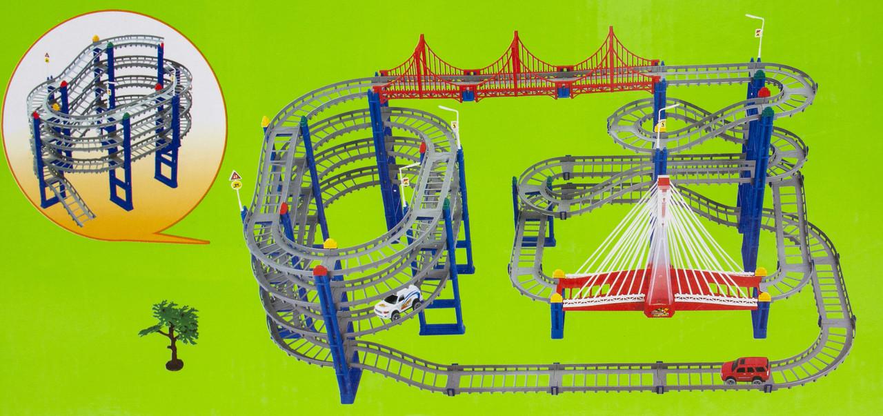 Детская автострада с 2 машинками, 108х53 см, (8806)