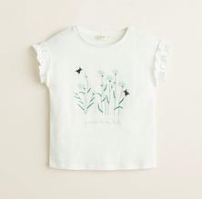 Стильная летняя футболка для девочки MANGO Испания Размер 122