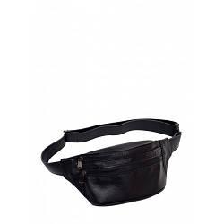 Черная кожаная сумка бананка Tirso с кожаным ремнем