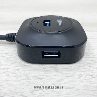 Хаб концентратор зарядка REMAX RU-U8 (Black), фото 2