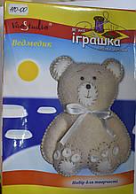 """Набор для творчества """"Медвежонок светло коричневый"""", мягкая игрушка своими руками, код 201020"""