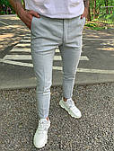 Штани чоловічі штани сірі приталені стильні