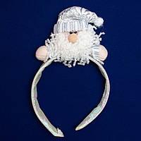 """Новогодний сувенир """"рожки"""" - Дед Мороз, d18 см (180622-1)"""