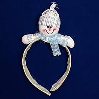 """Новогодний сувенир """"рожки"""" - Снеговик, d18 см (180622-2)"""