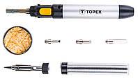 Паяльник газовый TOPEX 12 мл с насадками (44E108)