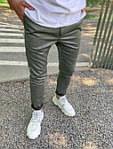 Штани чоловічі штани сріблясті приталені стильні