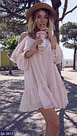 Шифоновое платье на бретельках