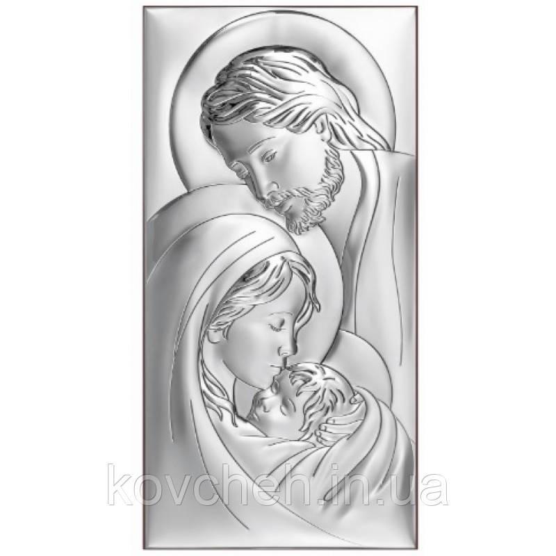 """Ікона срібна """"Святе Сімейство"""" 18x36"""